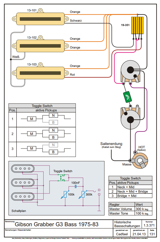 gibson g3 wiring help basschat here is a wiring diagram taken from cadfael s passive wiring book 161589 homepa e e baesse html very good resource pdf link is at the bottom